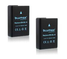 2x EN-EL14 Battery for Nikon D3300 D3400 D5100 D5200 D5500 D5600 P7700 P7800