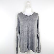 Second Female Grey Lightweight Long Sleeved Jumper Angora Wool Sweater - Size S