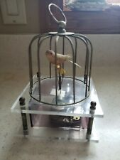 Vintage Antique Collectible Bird Cage Sankyo Music Box Japan Works
