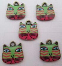 Hot sell ! 4PCS cat Pendant beaded Jewelry DIY Findings 17x17mm