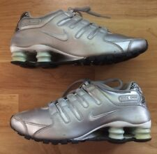 Sz 7 Womens Silver NIKE SHOX Tennis Athletic Shoes EUC Gray Running Sneakers