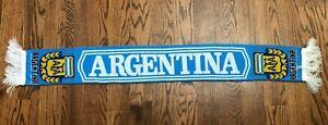Argentina Fringe Soccer Scarf One Size Messi Maradona