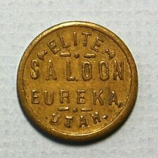 Eureka Utah Elite Saloon JM Miller Good for 121/2c Trade Brass 21mm Token