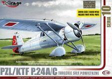 KTF / PZL P 24 A/C (TURKISH AF MARKINGS) 1/48 MIRAGE rare