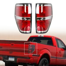For 2009-2014 Ford F150 F-150 Pickup w/ Chrome Trim Tail Lights Brake Lamps