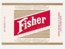 Fisher Light Beer Label