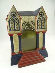 Antique Cast Iron Building Multiplying Still Bank 1883 J & E Stevens Victorian
