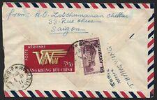 Vietnam 1954 cover to Singapore