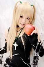 HOT Sell! Death Note AMANE MISA Long Cosplay Wig Light Golde    R.2609