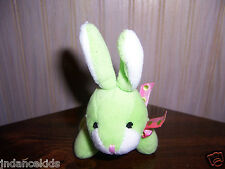 "4 1/2"" Dan Dee Plush Green Bunny Rabbit  DanDee Collector's Choice Easter Spring"
