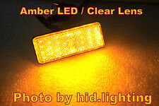 1x Rectangle Reflector Amber Yellow LED Rear turn signal light Car Clear Lens