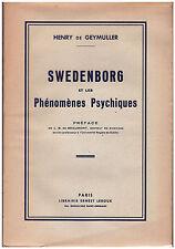 GEYMULLER Henry de - SWEDENBORG ET LES PHENOMENES PSYCHIQUES