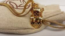 1TTX New 2014  Diving Bell pendant necklace pure copper Gold plated - HOT!!