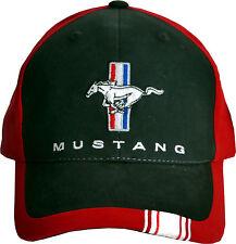 Ford Mustang cap, original bajo licencia +, calidad 1a, basecap, 2018, red/BLK.