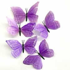 Feather Butterflies Style 2 x 5 Pack - Purple