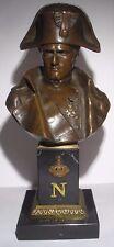 Ancien buste en bronze de Napoléon 1er, Consul,  Bonaparte, Empire, XIXème