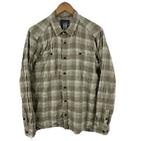 Patagonia Mens Button Up Shirt Size Small Hemp Blend Flannel Long Sleeve