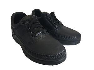 Clarks Men's Caribou SMU Lace-Up Black Leather Comfort Shoes Size 8M