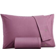 Lacoste Home Lacoste Solid Cotton Percale Full Sheet Set, Size Full