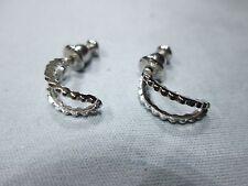 Vintage 1980s Sterling Silver Earrings, Napier backed, 12mm long