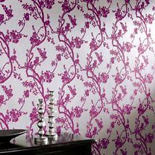 5 X Arthouse Vintage Sundown Pink Heavyweight Textured Flock Wallpaper 680704