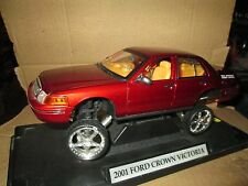 DONK BOX BUBBLE RED 1991 CROWN VIC ford  victoria  LOOSE Display 1/18 Motormax