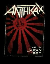ANTHRAX cd lgo LIVE IN JAPAN 1987 Official SHIRT XXL 2X new