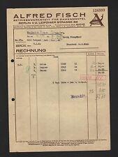 BERLIN, Rechnung 1941, Alfred Fisch Betriebswerkstatt für Damen-Mäntel