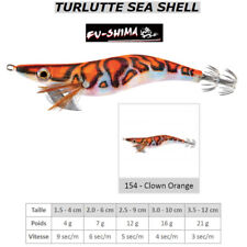 Turlutte Jig Lure FU-SHIMA SEA SHELL Clown Orange Calamar Seiche Squid