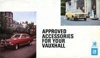 Vauxhall Victor FE Viva HC Firenza ACCESSORIES UK market 1972/73 sales brochure