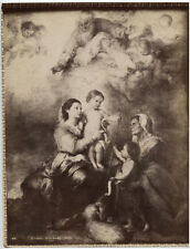 UNMOUNTED ALBUMEN SAINT FAMILY PAINTING BY MURILLO.