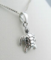 Handmade 925 Sterling Silver Tortoise Turtle Pendant Without Chain / Necklace