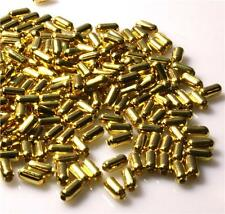 250 per Bag BAMBOO TUBE SPACER BEADS Gold Plated 4MM