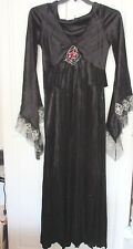 California Costume~ Black SPIDER HODDED ROBE Halloween Costume~Women's Medium