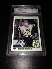 Mike Modano Signed 1990-91 Upper Deck French Rookie Card PSA Slabbed #83495703
