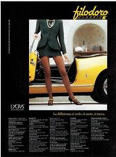1993 FILODORO  Hosiery , Tight :  French Magazine Print  AD