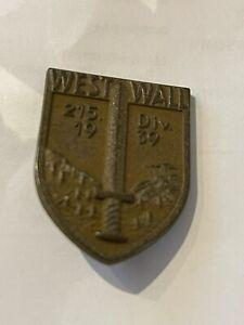 WW2 German West Wall 215th Infantary Hat Badge 1939