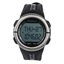 Pedometer Calories Counter Pulsometer Heart Rate Monitor LED Sport Watch Pop
