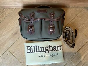 Billingham Hadley Small Pro - Sage Green/Brown Leather - near Mint Camera Bag.