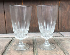 2 Tall Glasses Approx 6 1/4 Inches Tall