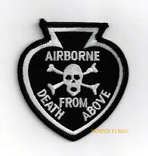 AIRBORNE SPADE DEATH FROM ABOVE HAT PATCH US ARMY AIR FORCE NAVY MARINES SKULL