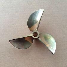 """Propeller 26cc Brass Prop 1/4"""" Shaft 6717 3 Blade 67mm Diameter RC Boat #832"""