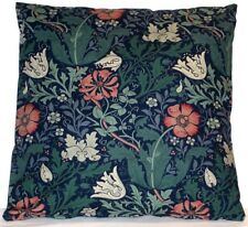 """WILLIAM MORRIS COMPTON DESIGNER SCATTER CUSHION PILLOW COVER, D/SIDED 20"""" NAVY"""