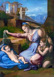 Raphael - Madonna with the Blue Diadem, Raffaello, Art Poster, Canvas Print
