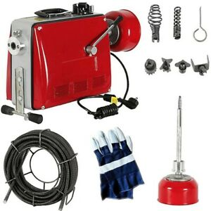 Rohrreinigungsmaschine 500W 16mm Rohrreinigungsgerät Rohrreiniger Abflussreinige