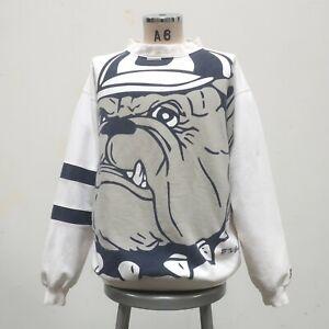 Vintage 90s Georgetown Hoyas AOP Crew Neck Sweatshirt Size XL Made in USA