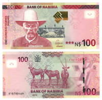 NAMIBIA $100 Dollars (2012) P-14 UNC Banknote Paper Money