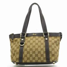 cf0fc7e31ca Gucci Tote bag G logos Beige Brown Woman Authentic Used U3776