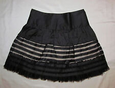 FREE PEOPLE ruffled KAWAII striped baby doll gothic Lolita mini tulle skirt 4