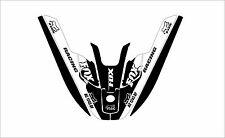 kawasaki 650 sx jet ski wrap graphics pwc up jetski decal kit black white fox ol
